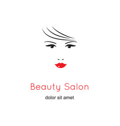 beautiful woman face on white background beauty vector image