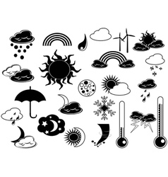 black weather icon vector image