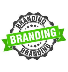 Branding stamp sign seal vector