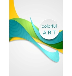 Bright corporate smooth bends colorful vector