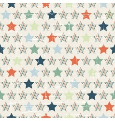 Christmas and Holidays seamless pattern with stars vector image