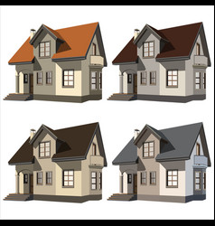 cottages vector image vector image