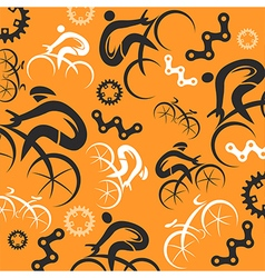 Cycling decorative background vector image