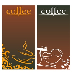 Design for coffee vector image vector image