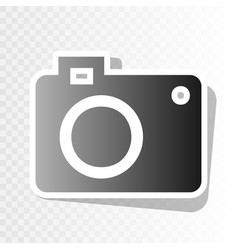 digital camera sign new year blackish vector image vector image