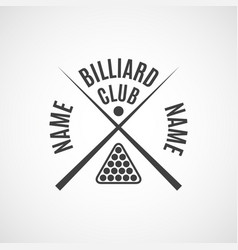 emblem billiard club vector image