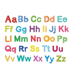 English alphabets vector
