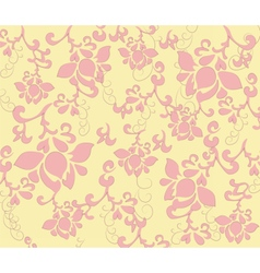 Flower texture pattern vector image