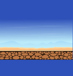 Game background mountain landscape style vector