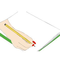 Hand drawing that draws vector