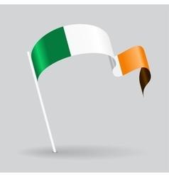 Irish wavy flag vector image