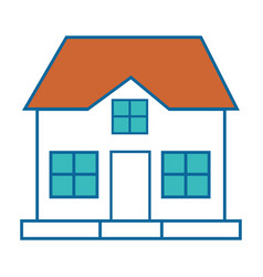 Isolated big house vector