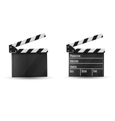 realistic clapperboard on a white background vector image