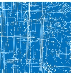 simulating engineering blueprint vector image vector image