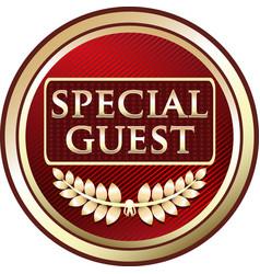 Special guest icon vector