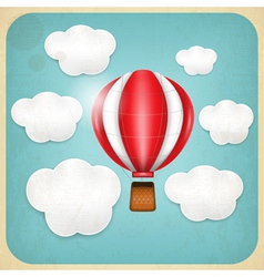 Vintage Balloon Retro card vector image