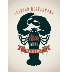 Restaurants menu or seafood vector