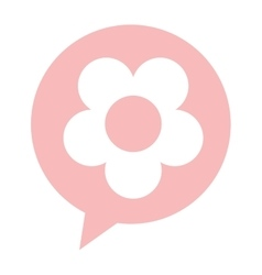 Flower silhouette isolated icon vector