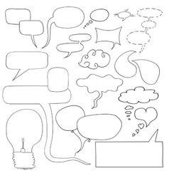 Handdrawn dialog windows frames light vector