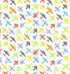 Transport and navy airplanes and jets color vector image