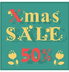 Xmas sale fifty percents vector
