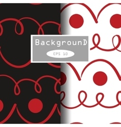 seamless patterns background two various vector image
