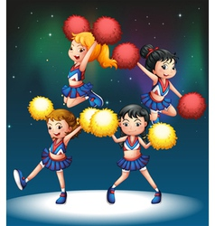 The four cheerdancers vector