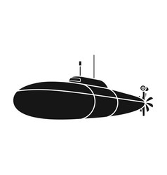 Black military submarineboat for swimming under vector