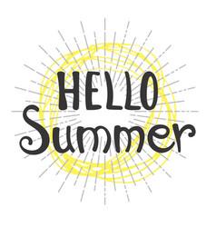 Phrase hello summer vector