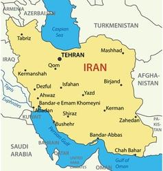 Islamic republic of iran - map vector