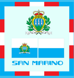 Official government ensigns of san marino vector