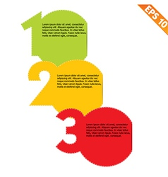 Three steps stitch template - - EPS10 vector image