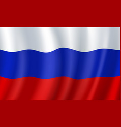 Russia 3d flag russian national symbol vector