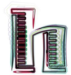 Font letter h vector
