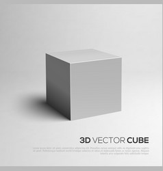 Cube 3d for your design vector