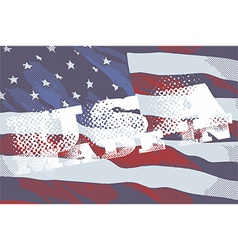 The inscriptions made in usa and flag of america vector