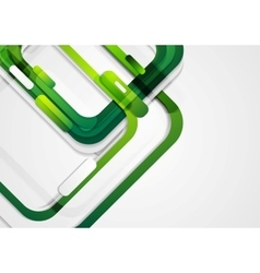 Abstract green geometric corporate background vector