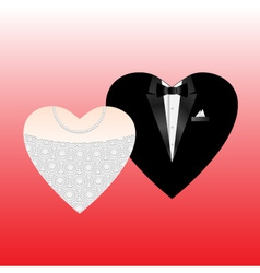 Wedding hearts vector