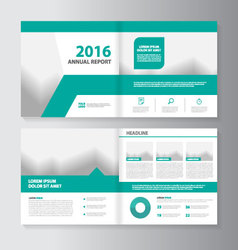 Annual report leaflet brochure flyer layout vector