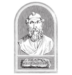 Archimedes vector image vector image