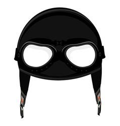 Aviator helmet vector