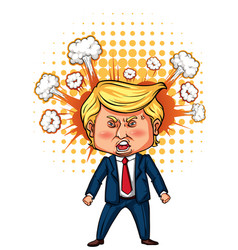 Character sketch of american president trump vector