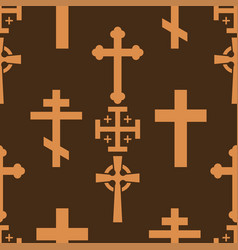 christianity church cross religion vector image