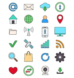 Color social media icons set vector image vector image