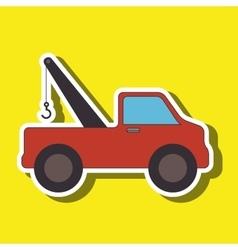 Crane truck design vector