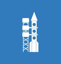 Icon rocket station vector