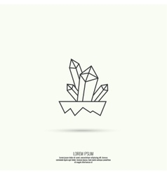 Icon with crystals vector image
