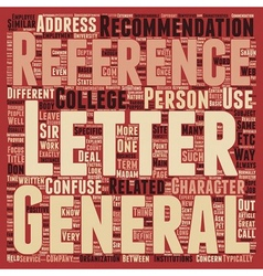 Letters of Reference Defined text background vector image