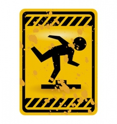 mind the step sign vector image vector image
