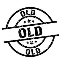 Old round grunge black stamp vector